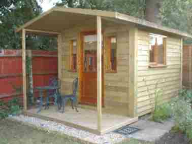 Garden Office Room Small Case Study Maidstone Outside View 01