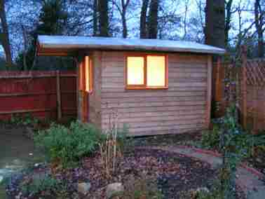 Garden Office Room Small Case Study Maidstone Outside Side View 03